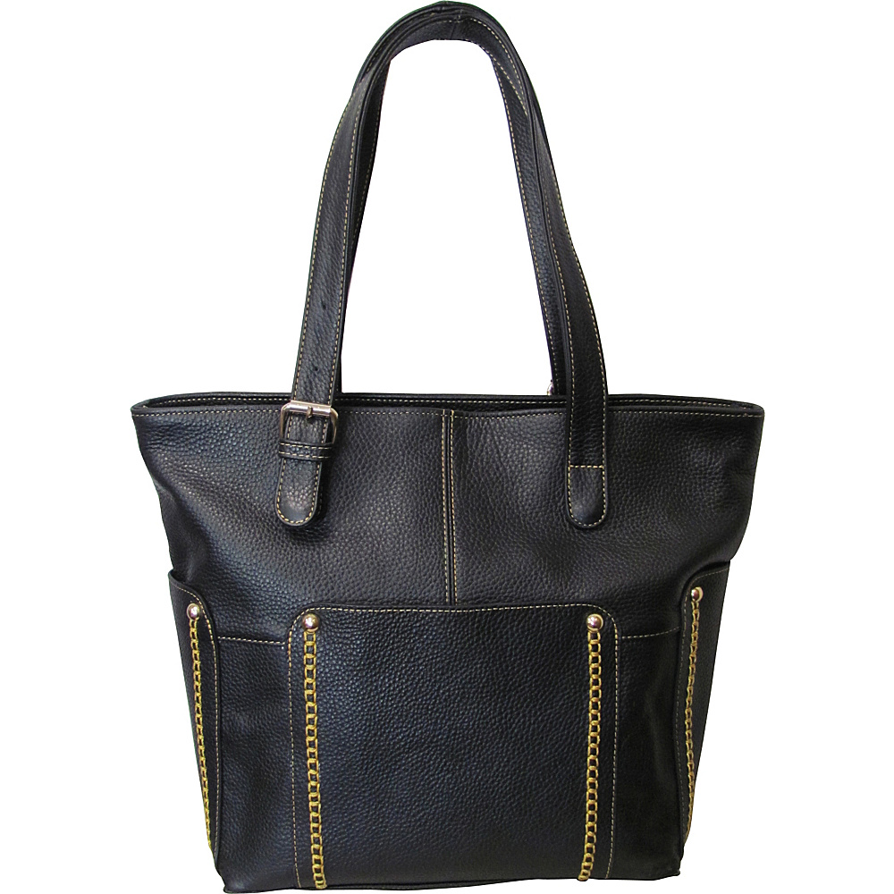 AmeriLeather Madelinne Handbag Black - AmeriLeather Leather Handbags - Handbags, Leather Handbags