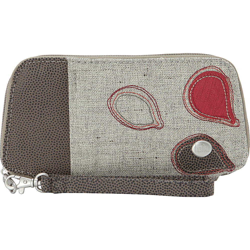 Haiku Fortitude Wristlet Mushroom Haiku Fabric Handbags