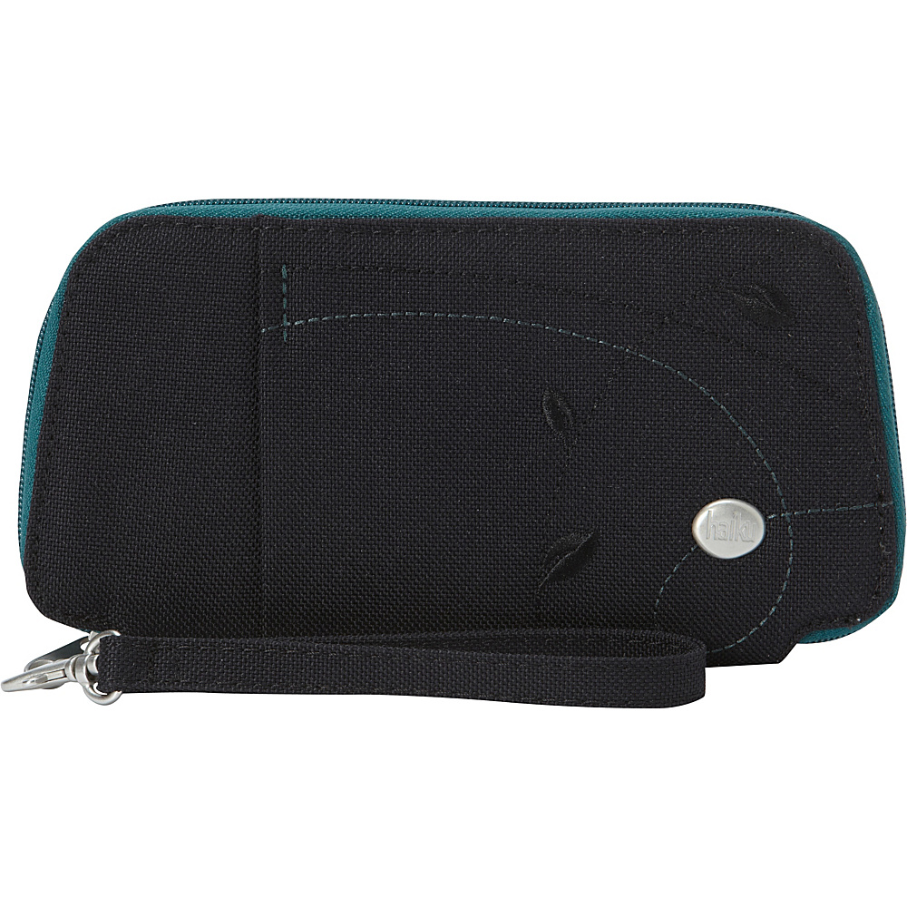 Haiku Fortitude Wristlet Black Juniper Haiku Fabric Handbags