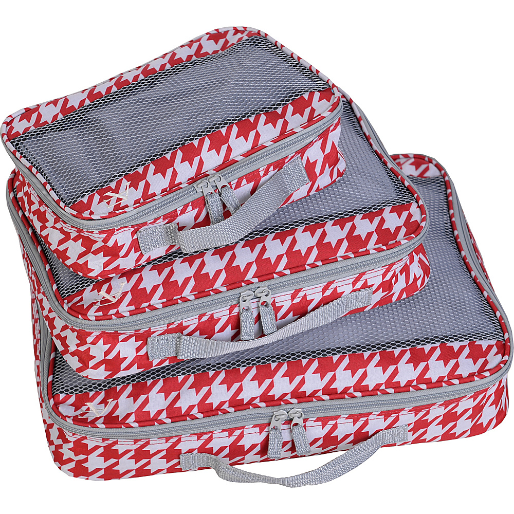 American Flyer Houndstooth 3pc Set Perfect Packing System Red American Flyer Travel Organizers