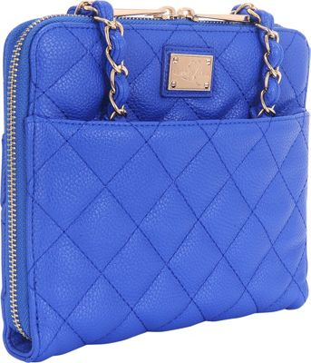 Sandy Lisa St. Tropez Quilted Purse - iPad Mini Blue - Sandy Lisa Electronic Cases