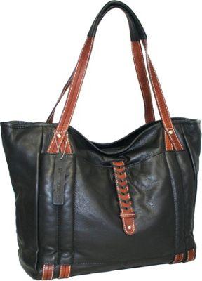 Nino Bossi Jara's Manhattan Tote Black - Nino Bossi Leather Handbags