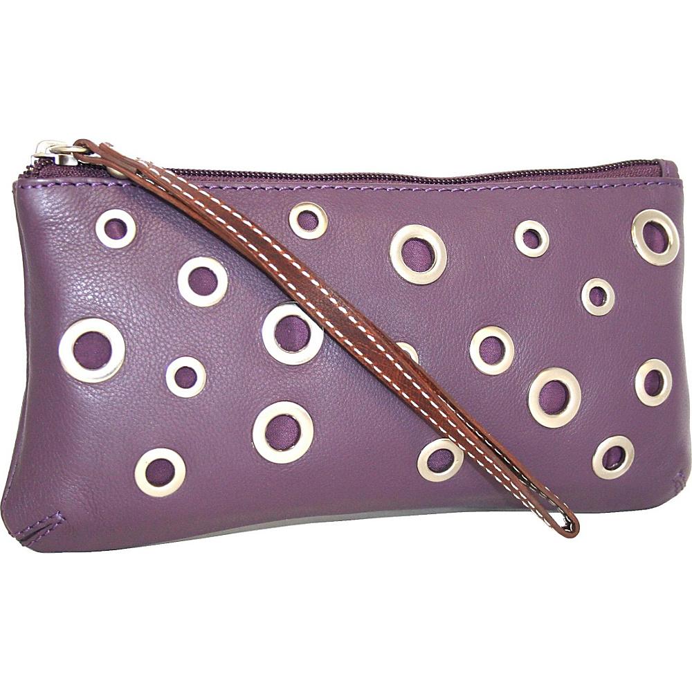 Nino Bossi The Eyes Have It Wallet Grape - Nino Bossi Designer Handbags - Handbags, Designer Handbags