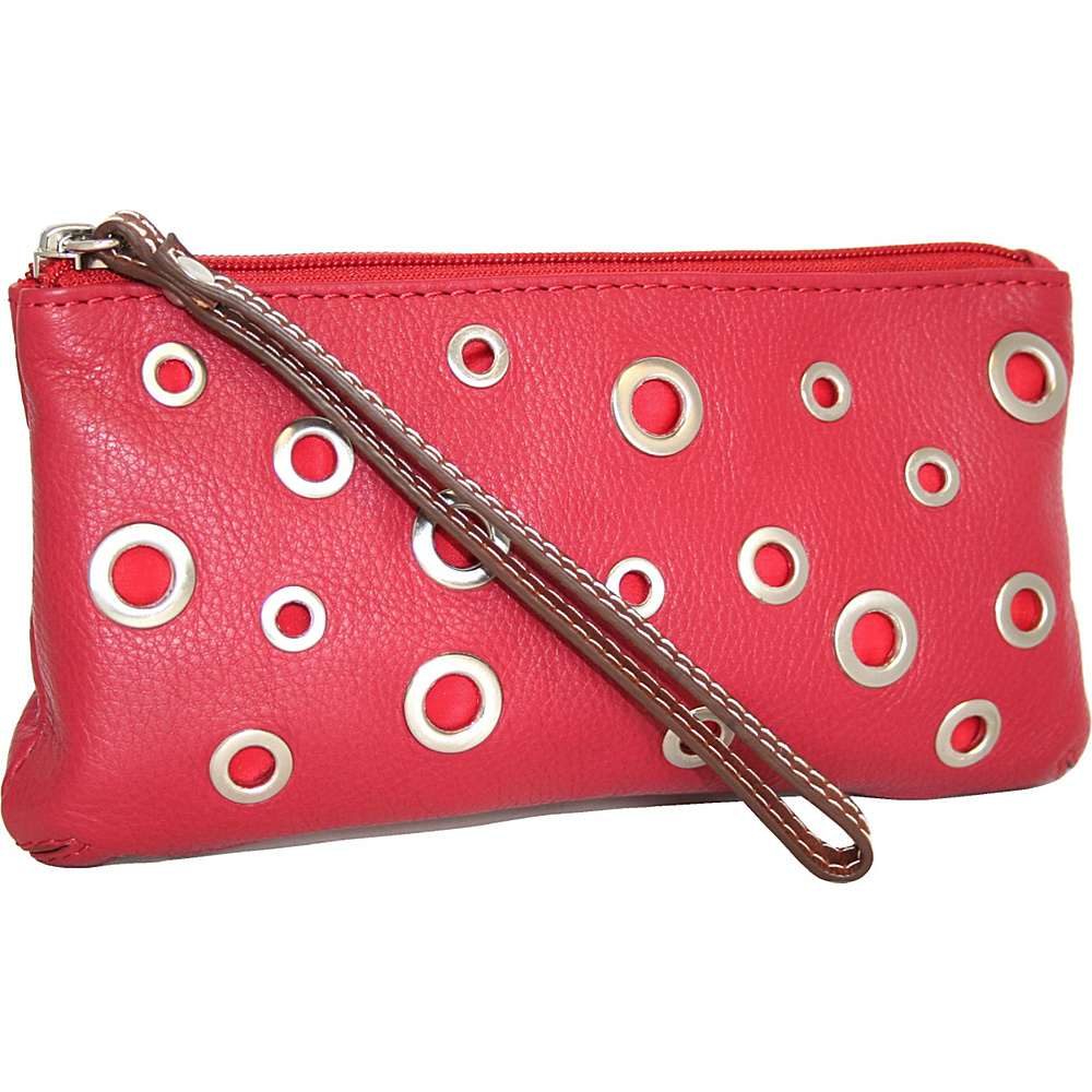 Nino Bossi The Eyes Have It Wallet Red - Nino Bossi Designer Handbags - Handbags, Designer Handbags
