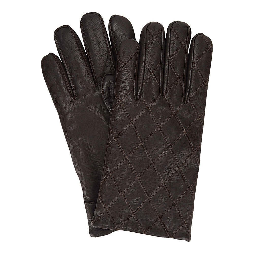 Ben Sherman Quilted Leather Glove Coffee Large Ben Sherman Hats Gloves Scarves