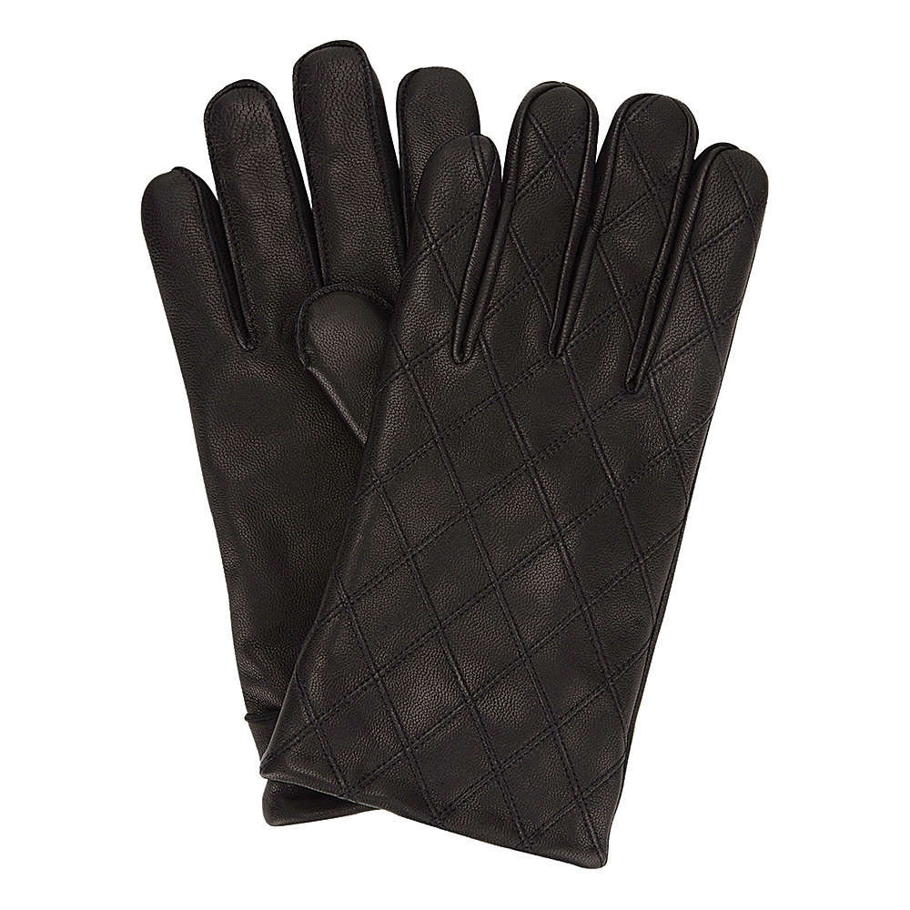 Ben Sherman Quilted Leather Glove Jet Black Small Ben Sherman Hats Gloves Scarves