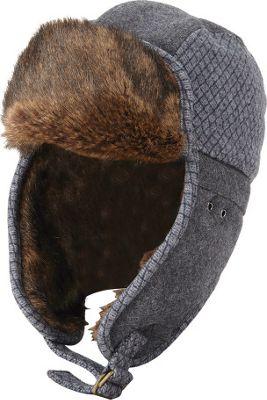 Original Penguin Morgan Trapper Hat S/M - Charcoal Heather - Original Penguin Hats/Gloves/Scarves