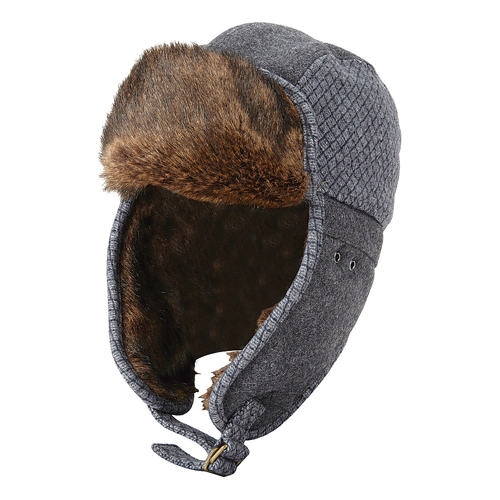 Original Penguin Morgan Trapper Hat Charcoal Heather Small Medium Original Penguin Hats Gloves Scarves