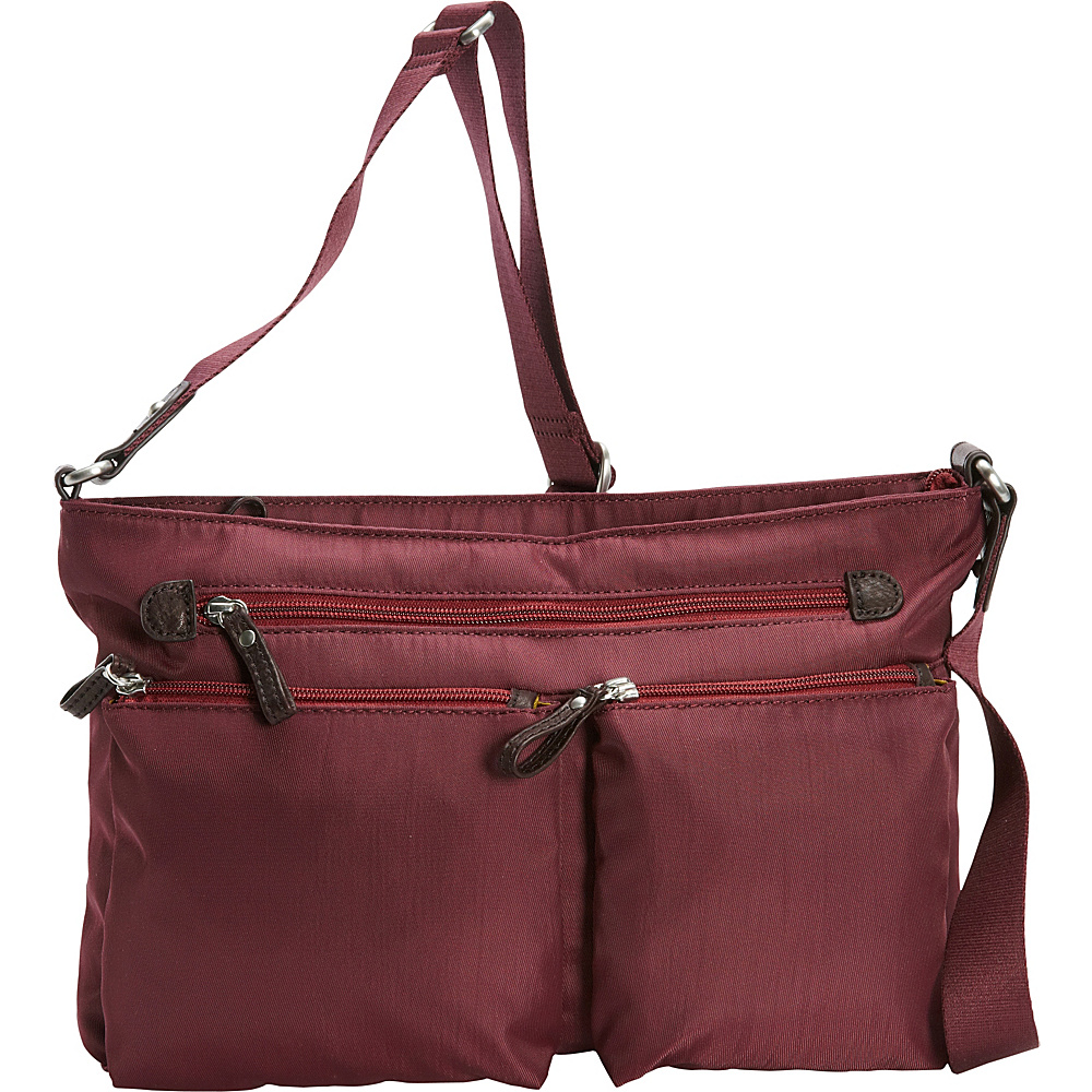 Osgoode Marley Zip Top Crossbody Cranberry Osgoode Marley Fabric Handbags