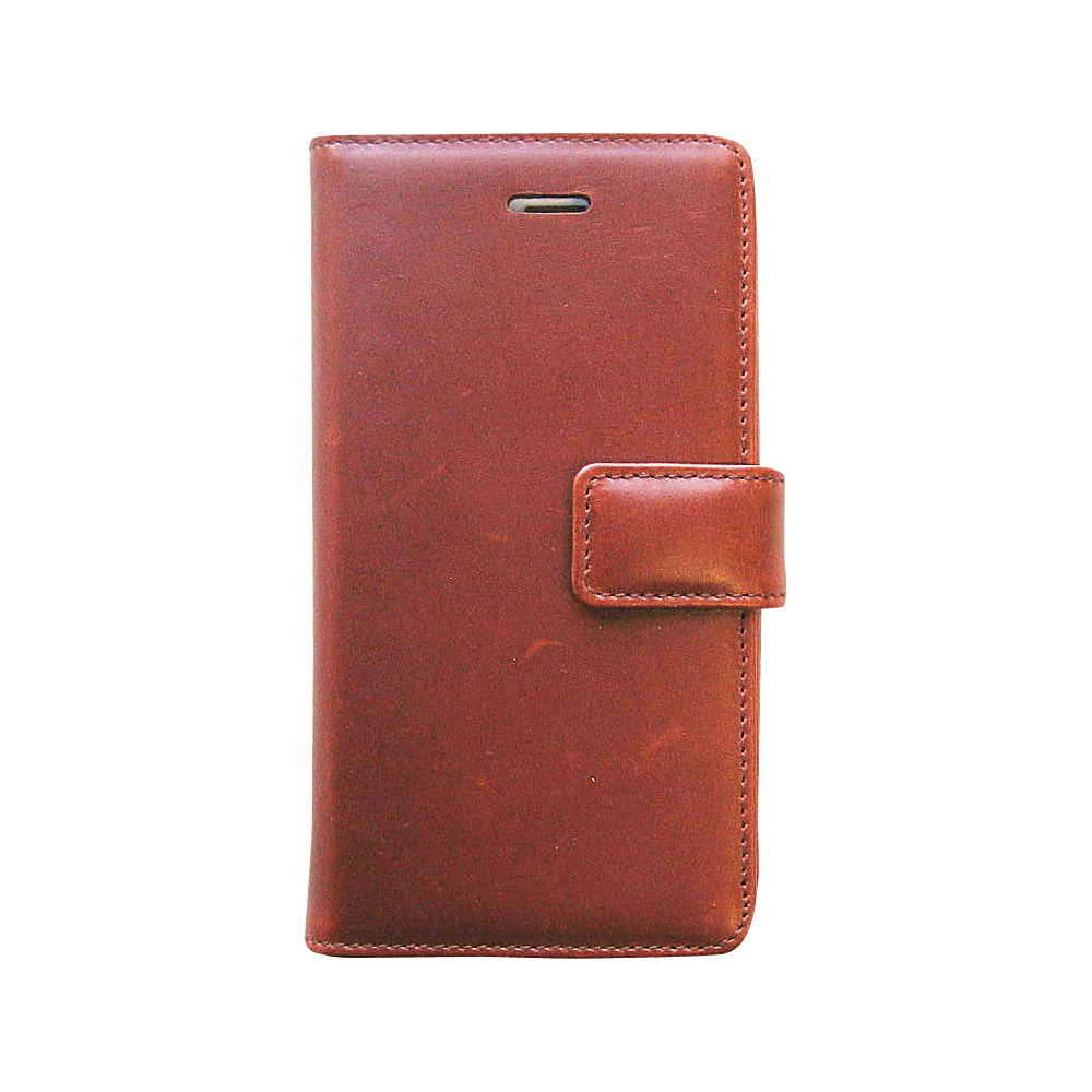 Tanners Avenue Leather iPhone 5 5s 5c Case Wallet Chestnut Tanners Avenue Electronic Cases