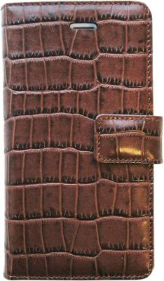 Tanners Avenue Leather iPhone 5/5s/5c Case Wallet Brown Croc - Tanners Avenue Electronic Cases