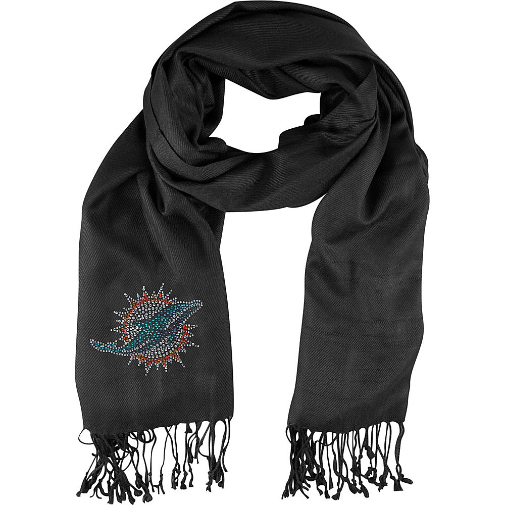 Littlearth Pashi Fan Scarf - Independent Teams Miami Dolphins - Littlearth Hats/Gloves/Scarves - Fashion Accessories, Hats/Gloves/Scarves
