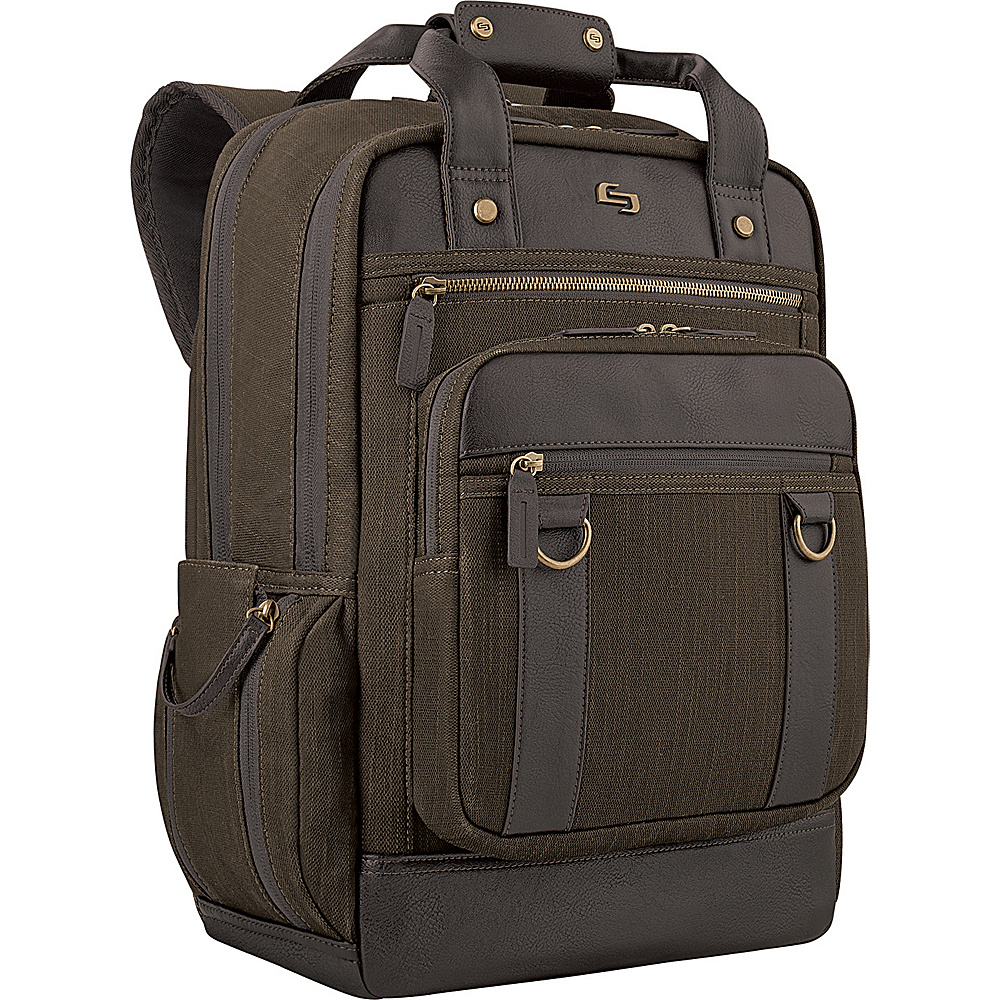 SOLO Bradford 15.6 Backpack Espresso SOLO Business Laptop Backpacks