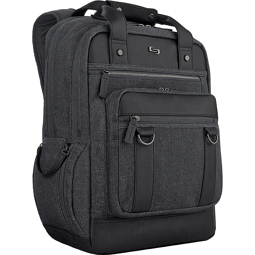 SOLO Bradford 15.6 Backpack Black SOLO Business Laptop Backpacks