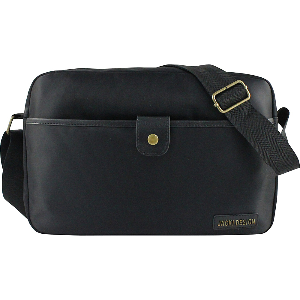 Jacki Design Men s Messenger Bag Black Jacki Design Messenger Bags