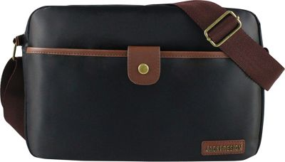 Jacki Design Men's Messenger Bag Black/Brown - Jacki Design Messenger Bags