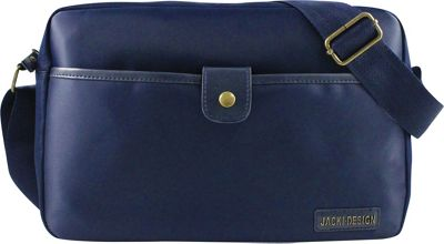 Jacki Design Men's Messenger Bag Blue - Jacki Design Messenger Bags