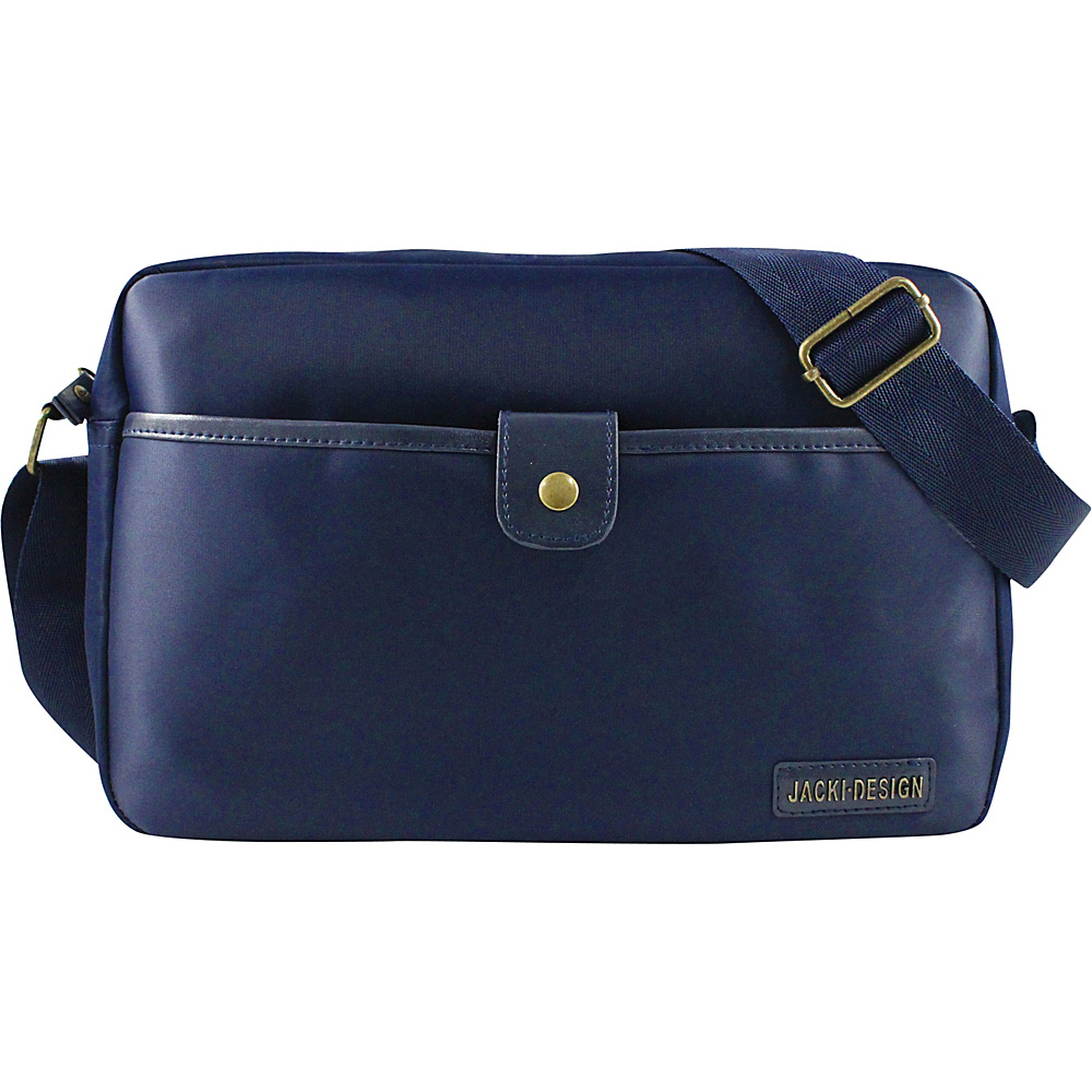 Jacki Design Men s Messenger Bag Blue Jacki Design Messenger Bags