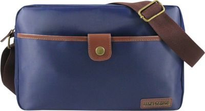 Jacki Design Men's Messenger Bag Blue/Brown - Jacki Design Messenger Bags