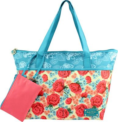Jacki Design Miss Cherie 2 Piece Tote Bag Blue - Jacki Design Fabric Handbags