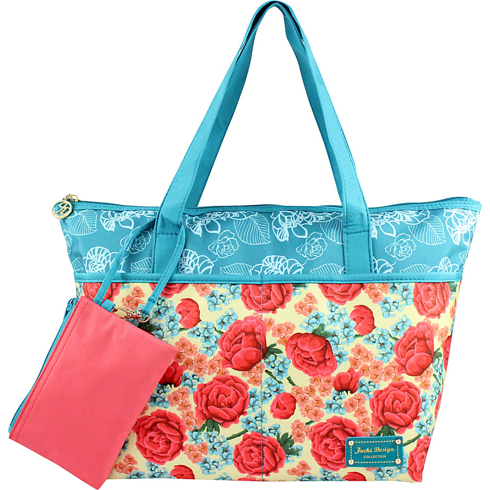 Jacki Design Miss Cherie 2 Piece Tote Bag Blue Jacki Design Fabric Handbags