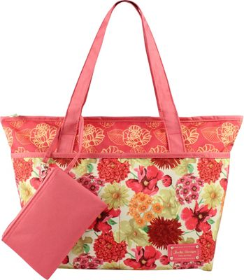 Jacki Design Miss Cherie 2 Piece Tote Bag Coral - Jacki Design Fabric Handbags