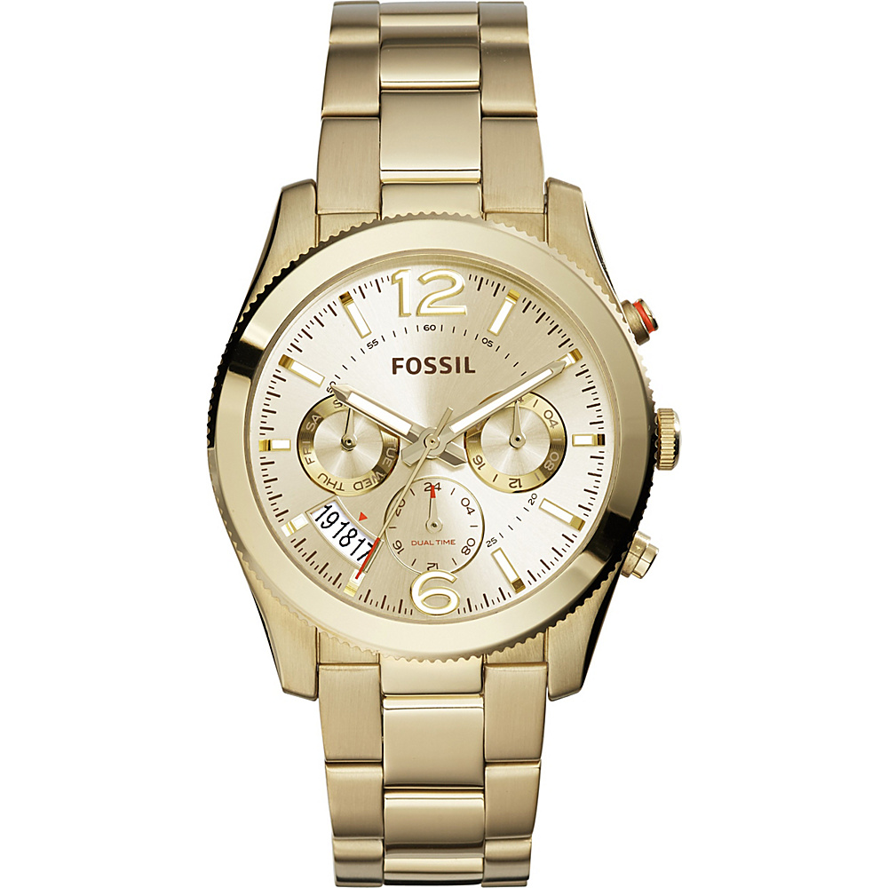 Fossil Perfect Boyfriend Multifunction Stainless Steel Watch Gold - Fossil Watches - Fashion Accessories, Watches