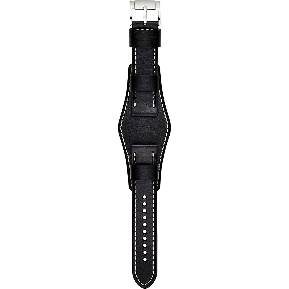 Fossil Leather 22mm Watch Strap Black - Fossil Watches - Fashion Accessories, Watches