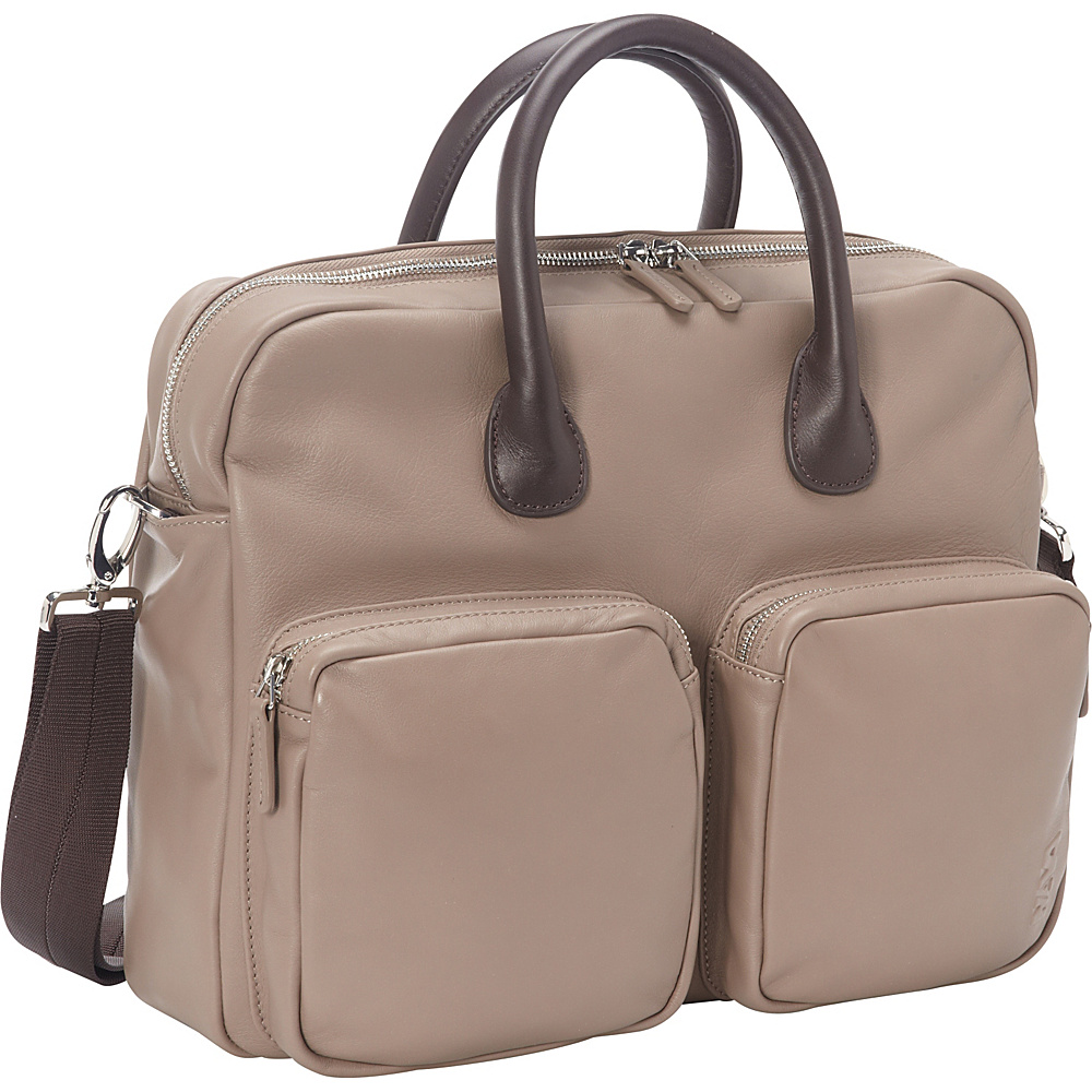 Nava N Leather Briefcase Dove - Nava Non-Wheeled Business Cases