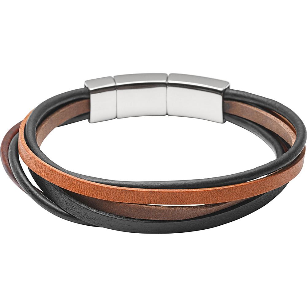 Fossil Multi-Strand Leather Bracelet Brown - Fossil Other Fashion Accessories - Fashion Accessories, Other Fashion Accessories
