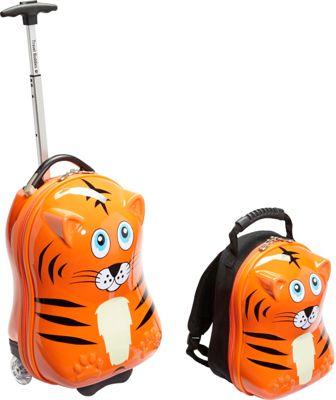 TrendyKid Travel Buddies Tiger 2Pc Set Tiger Orange - TrendyKid Luggage Sets