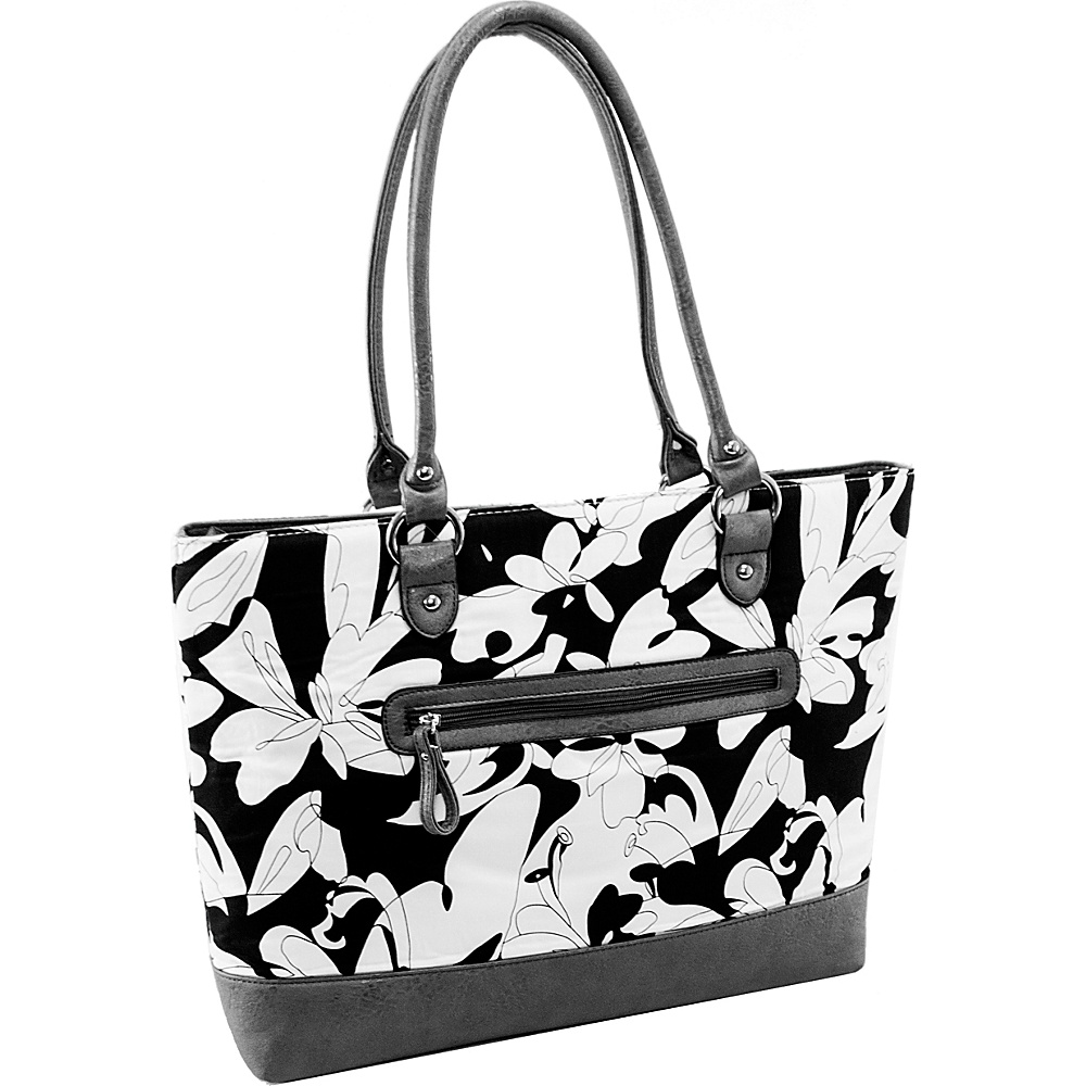 Parinda Aaryn Tote White Floral Parinda Fabric Handbags