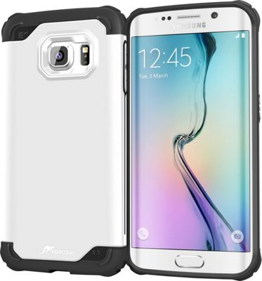 rooCASE Samsung Galaxy S6 Edge Case - Exec Tough Cover White - rooCASE Personal Electronic Cases