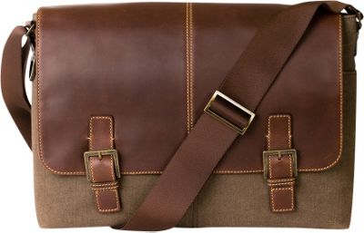 Boconi Bryant LTE Double Buckle Heather Brown with Houndstooth - Boconi Messenger Bags