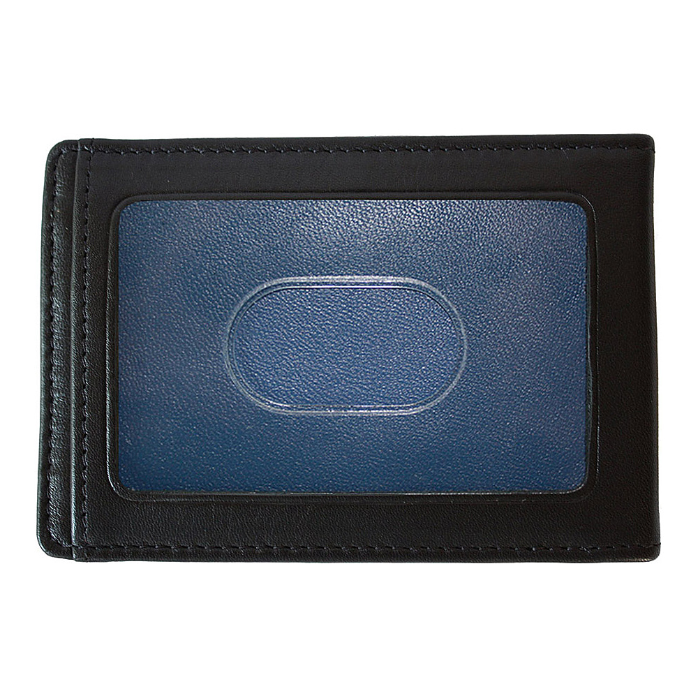 Boconi Collins Calf RS RFID Two Fold Money Clip Black Calf w blue Boconi Men s Wallets