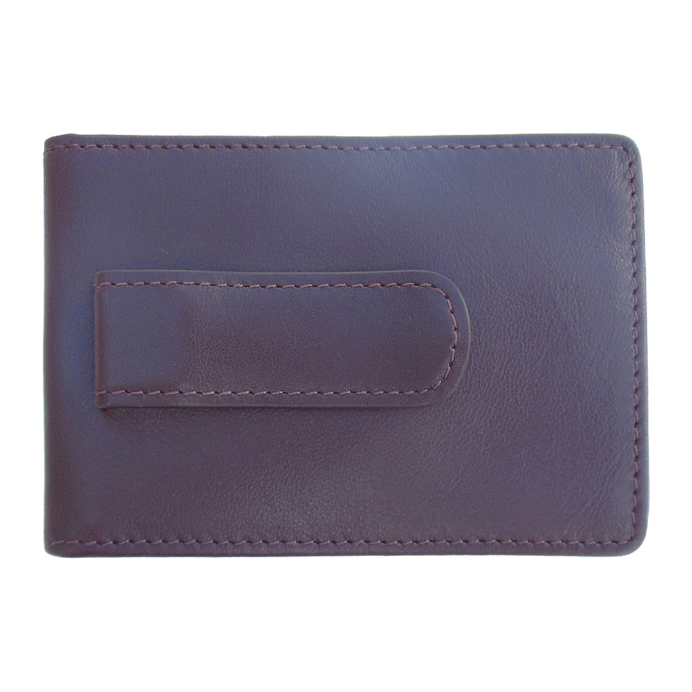 Boconi Collins Calf RS RFID Two Fold Money Clip Espresso w cool blue Boconi Men s Wallets