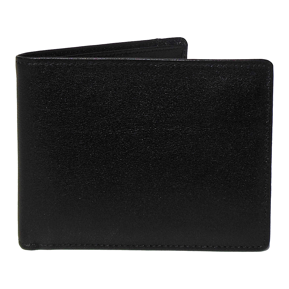 Boconi Grant RFID Removable ID Pass Case Black Leather with Gray Boconi Men s Wallets