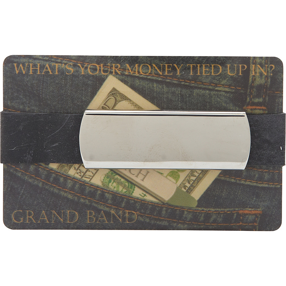 Budd Leather Plain 2nd Generation Stainless Steel Grand Band Silver Budd Leather Men s Wallets