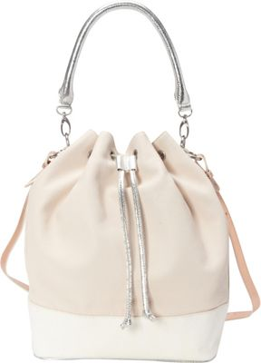 Image of Adrienne Landau Calypso Les Bucket Bag White - Adrienne Landau Leather Handbags
