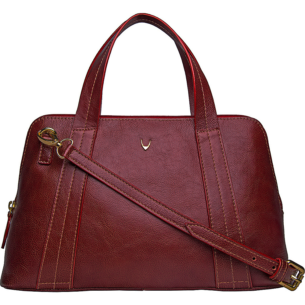 Hidesign Cerys Leather Satchel Red Hidesign Leather Handbags