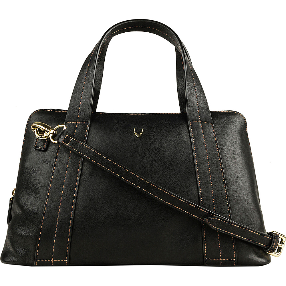Hidesign Cerys Leather Satchel Black Hidesign Leather Handbags