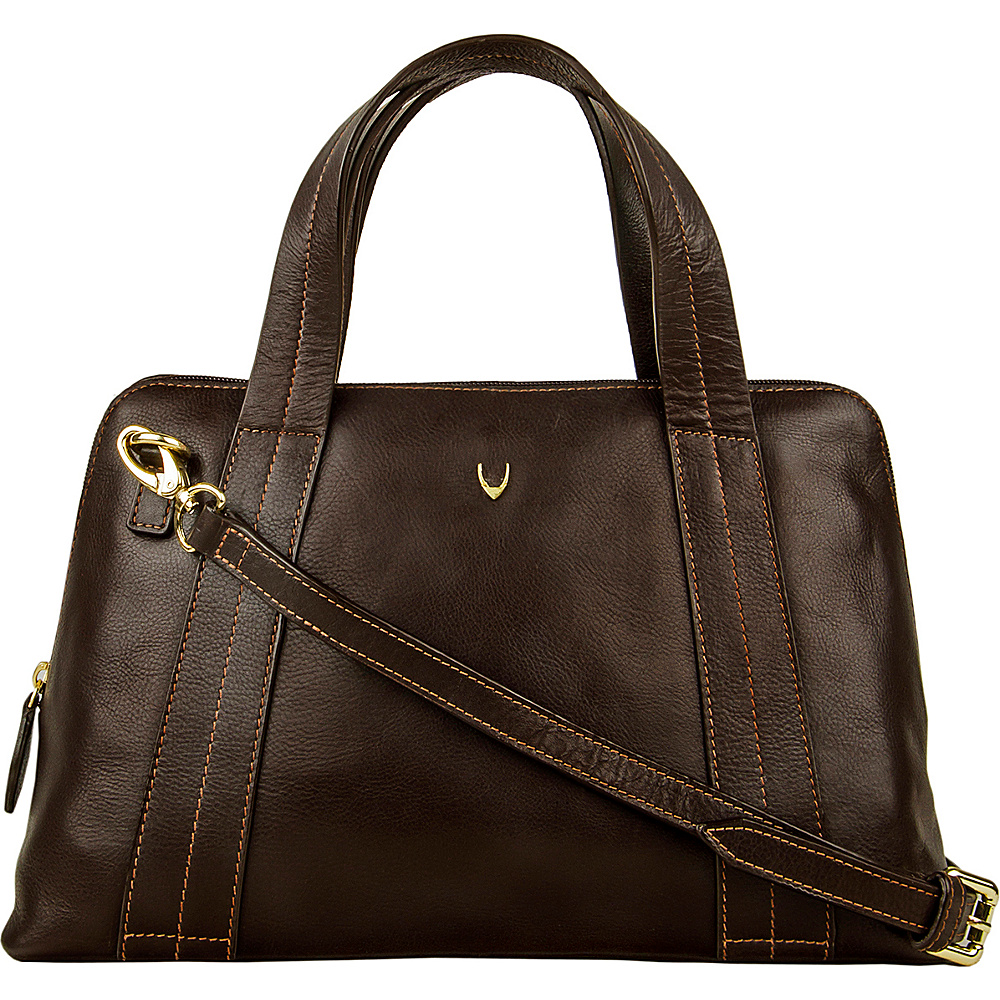 Hidesign Cerys Leather Satchel Brown Hidesign Leather Handbags