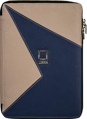 Lencca Minky Universal Tablet PortfolioCover Blue / Taupe - Lencca Electronic Cases