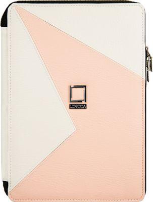 Lencca Minky Universal Tablet PortfolioCover White / Blush - Lencca Electronic Cases