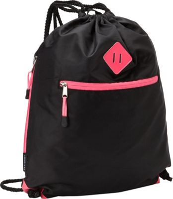 Eastsport Diamond Patch Drawstring Sackpack Pink Sizzle - Eastsport Everyday Backpacks