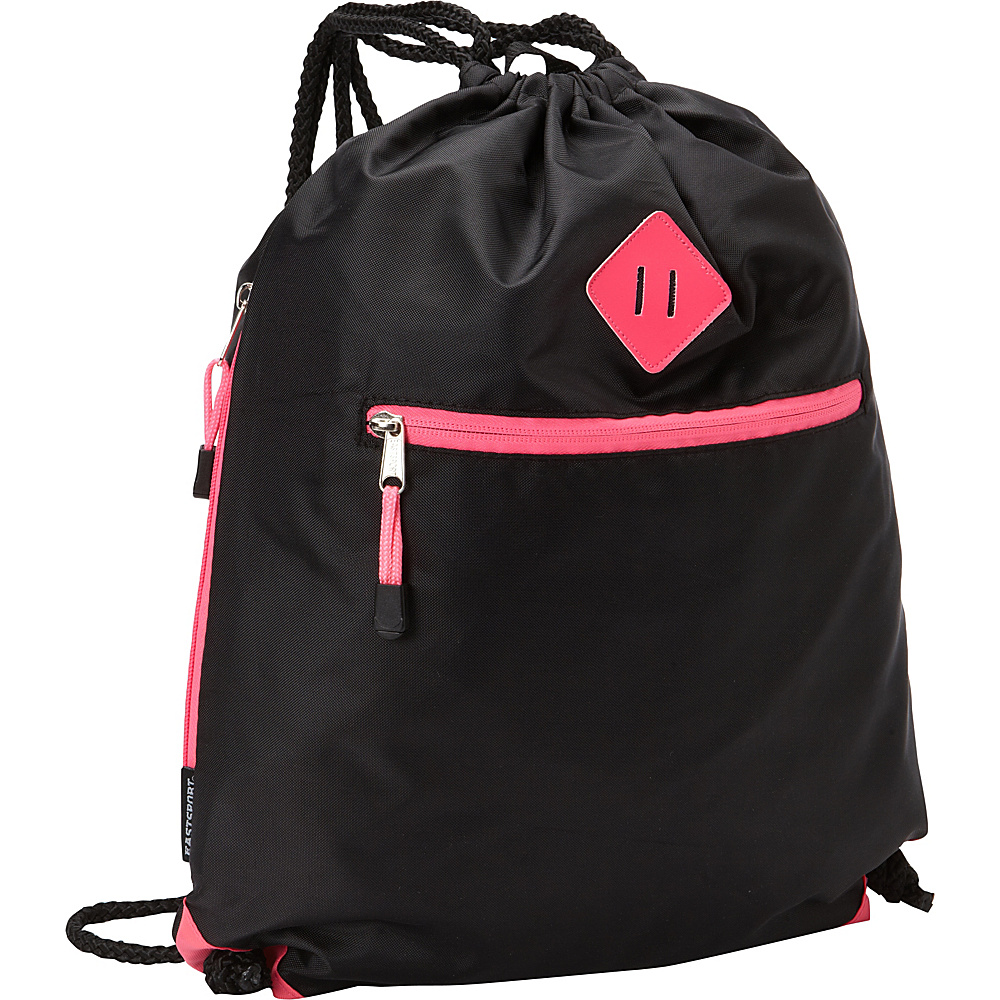 Eastsport Diamond Patch Drawstring Sackpack Pink Sizzle Eastsport Everyday Backpacks