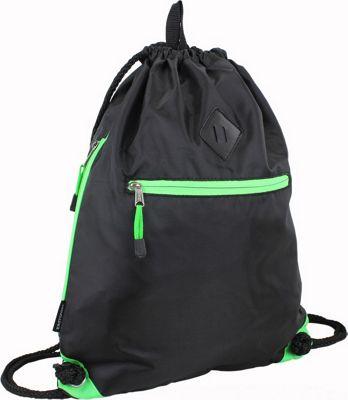 Eastsport Diamond Patch Drawstring Sackpack Lime - Eastsport Everyday Backpacks