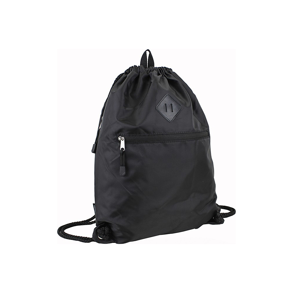 Eastsport Diamond Patch Drawstring Sackpack Black Eastsport Everyday Backpacks