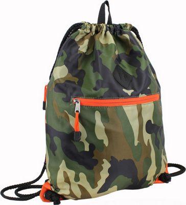Eastsport Diamond Patch Drawstring Sackpack Camo - Eastsport Everyday Backpacks