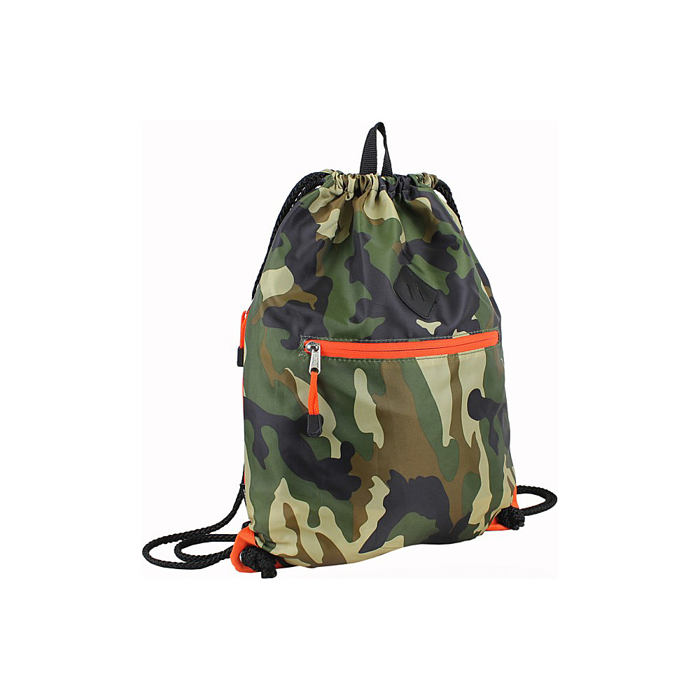Eastsport Diamond Patch Drawstring Sackpack Camo Eastsport Everyday Backpacks